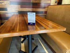 restaurant table cleaned and certified virus-free by Image One